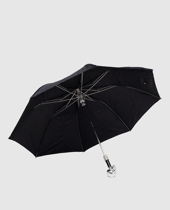 Черный зонт-трость hover