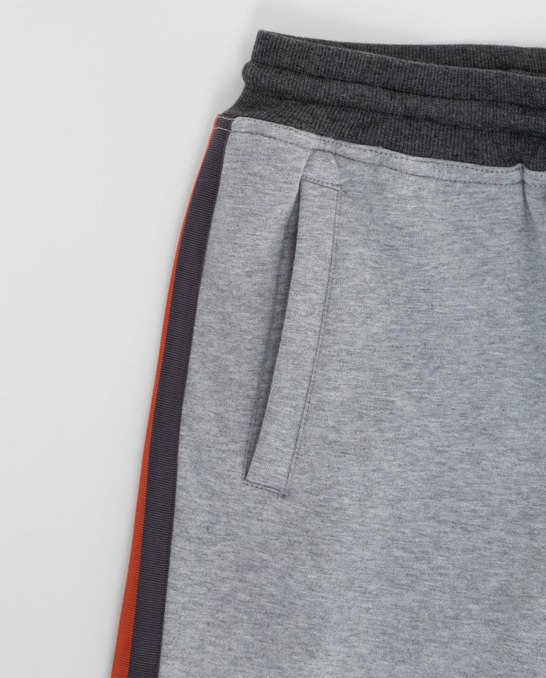 Brunello Cucinelli Детские серые спортивные брюки изображение 3