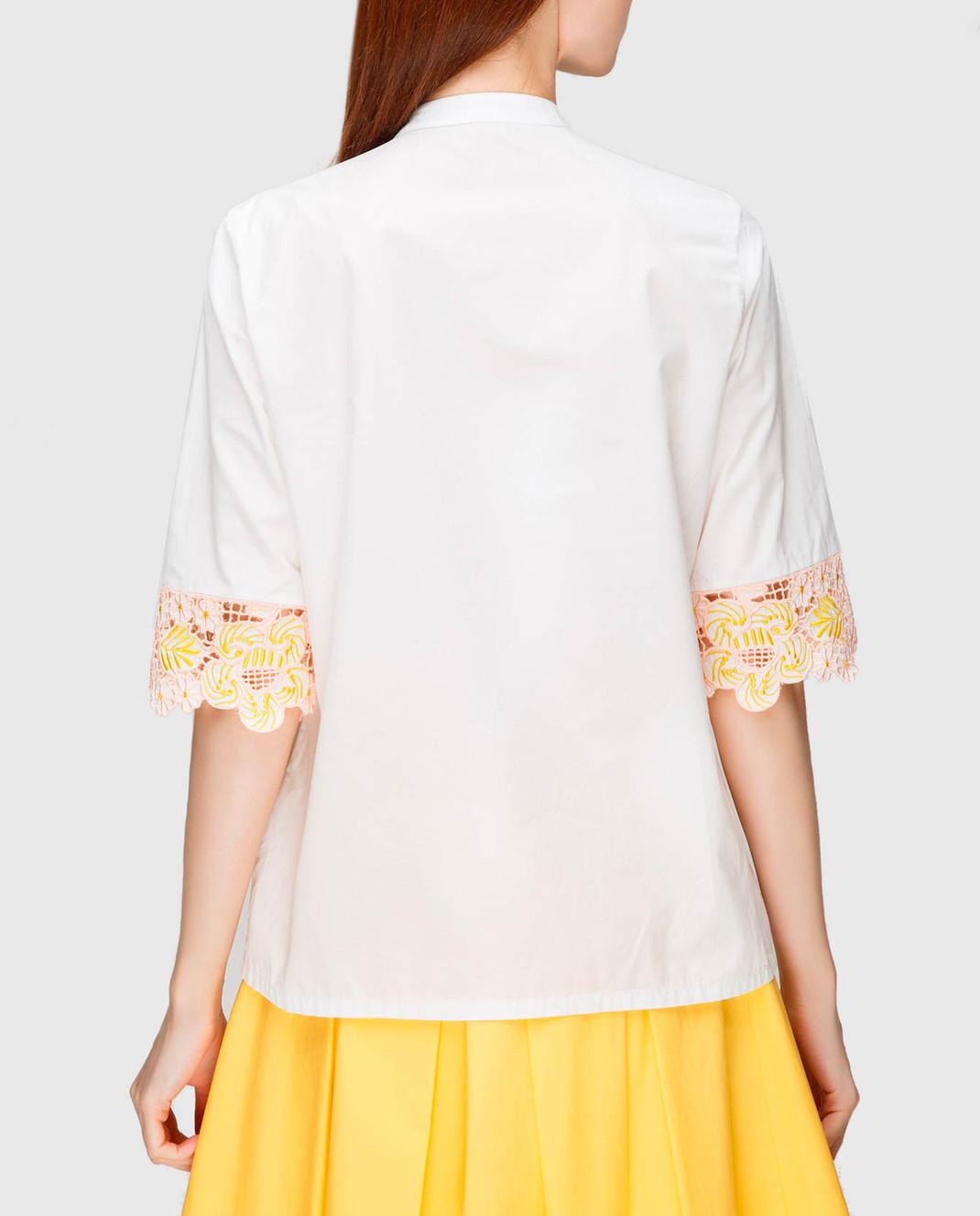 Etro Белая блуза с вышивкой D15180 изображение 4