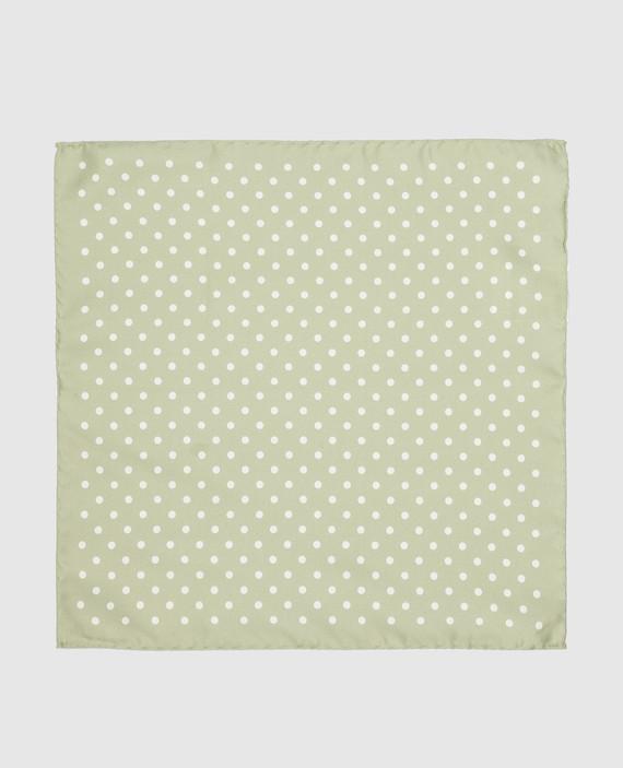 Зеленый платок из шелка