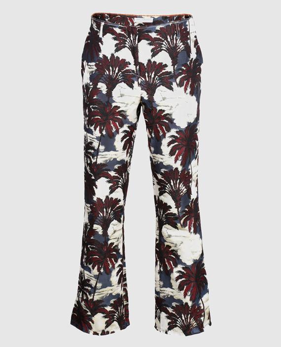 Жаккардовые брюки