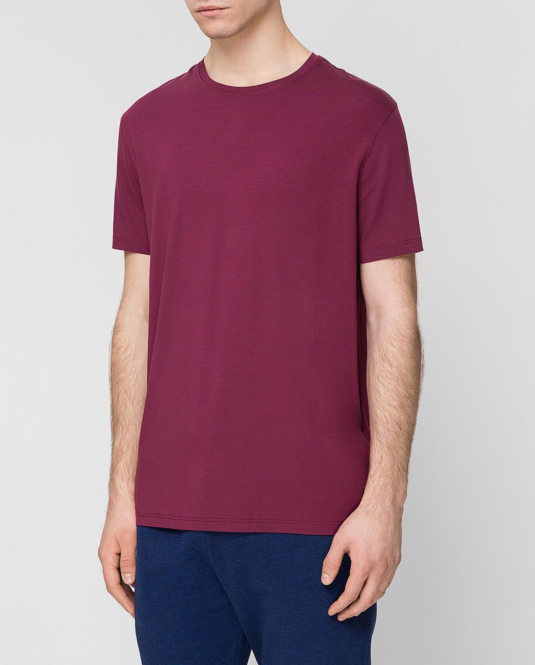 Derek Rose Бордовая футболка 3048BASE005 изображение 3