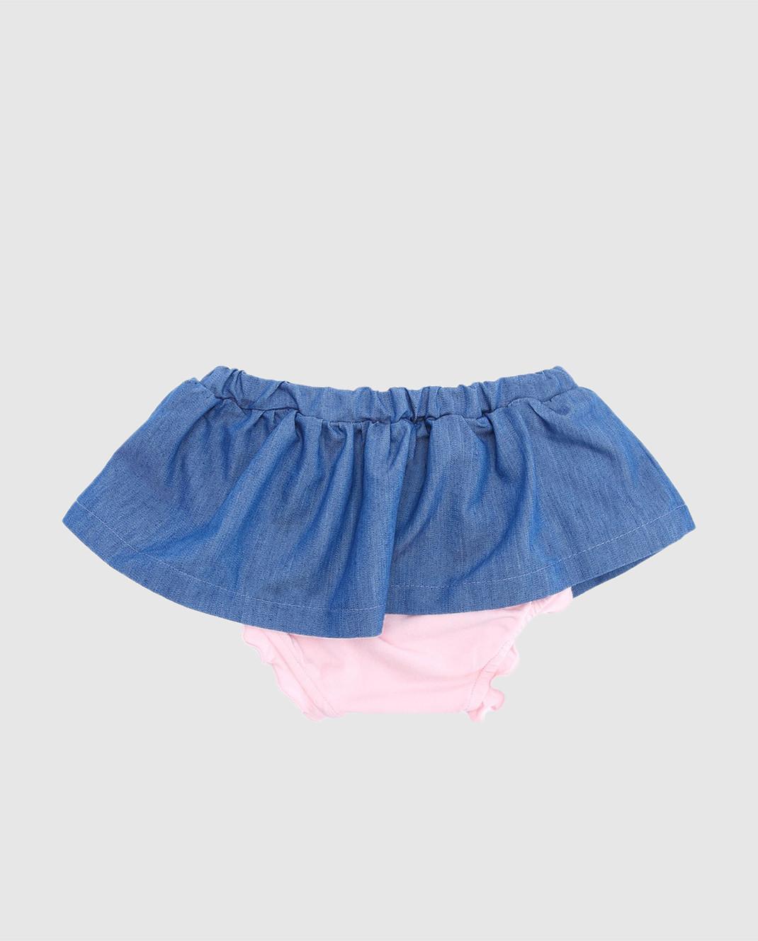 Philipp Plein Детская синяя юбка CRV0002 изображение 2