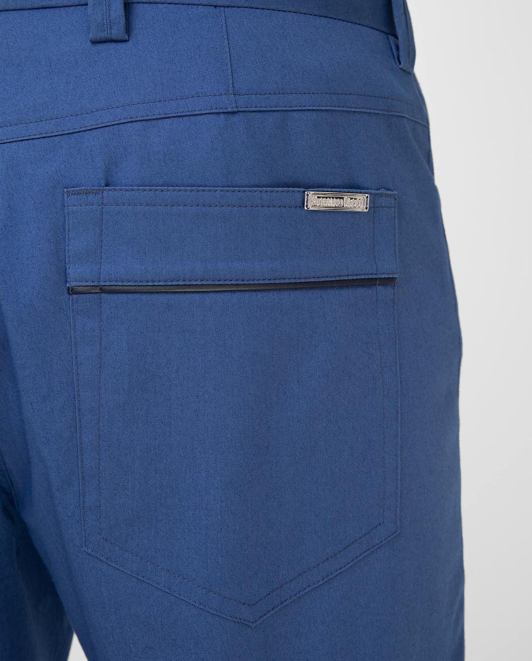 Stefano Ricci Синие брюки M1T8100020 изображение 5