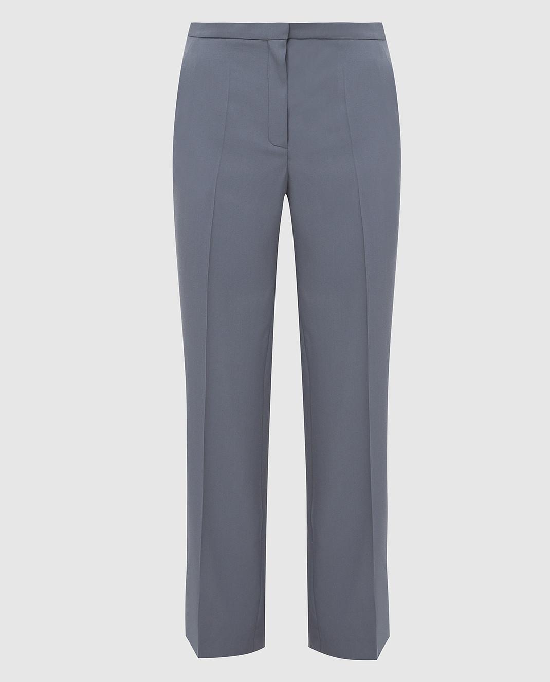 NINA RICCI Серые брюки из шерсти изображение 1