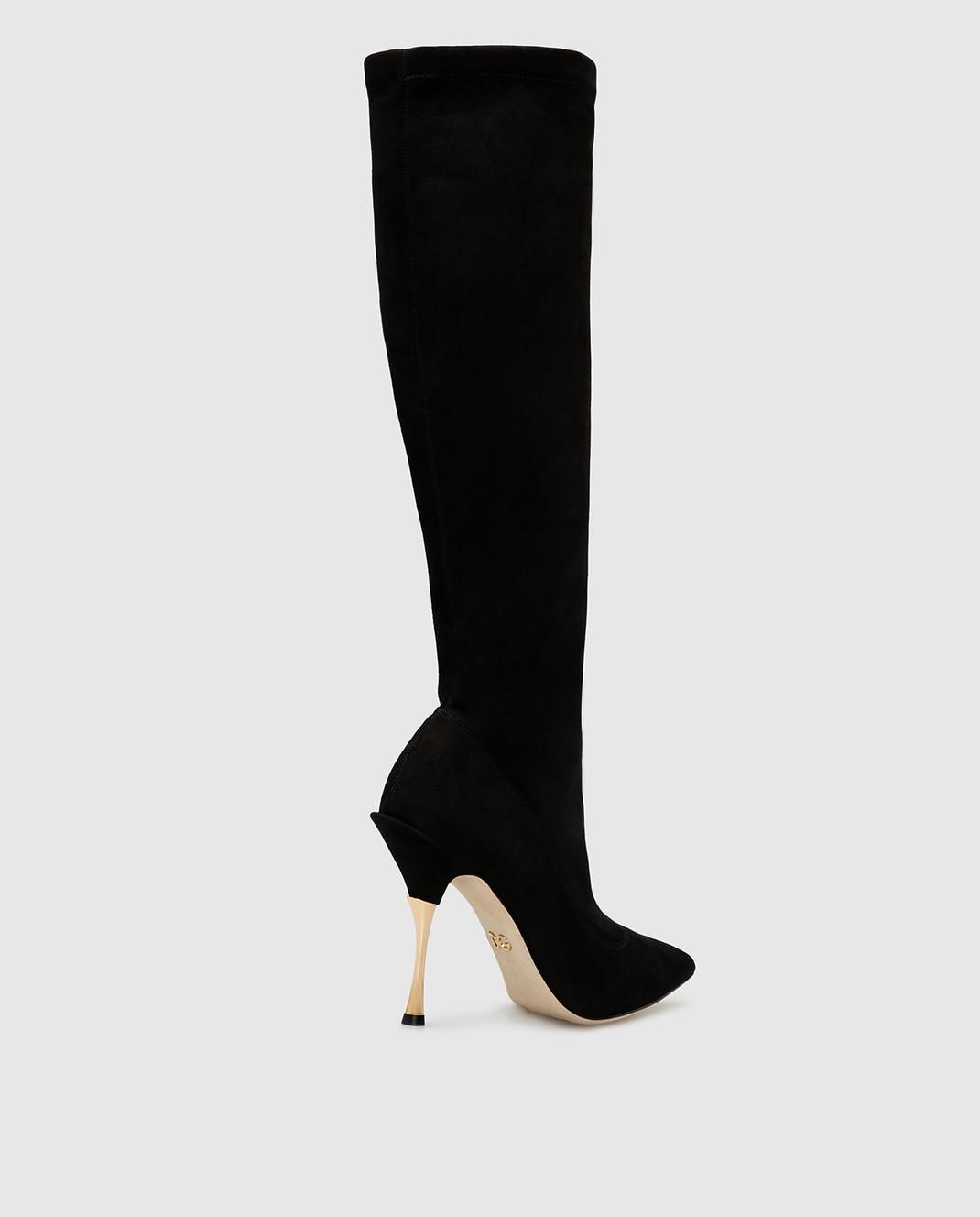 Dolce&Gabbana Черные замшевые сапоги CU0441AC700 изображение 4