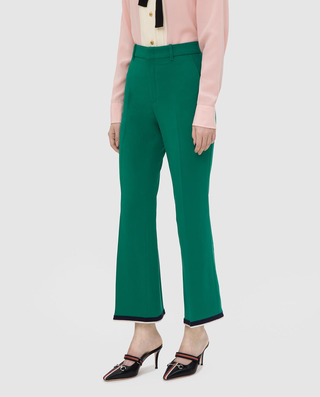 Gucci Зеленые брюки изображение 3