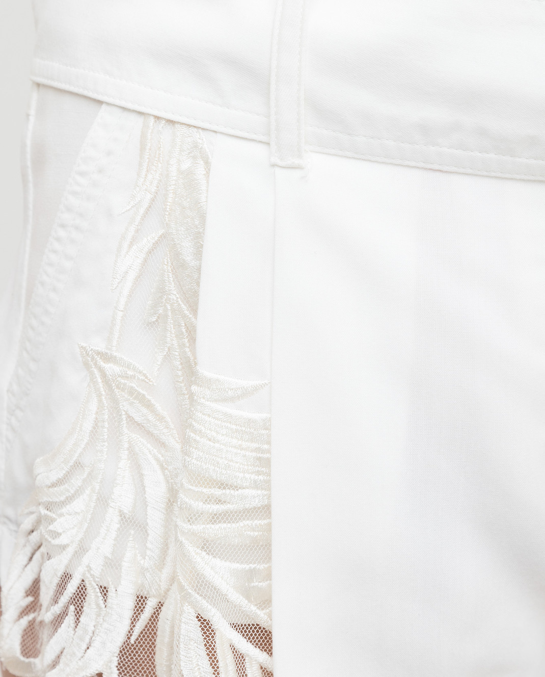 Roberto Cavalli Белые шорты CQR232 изображение 5