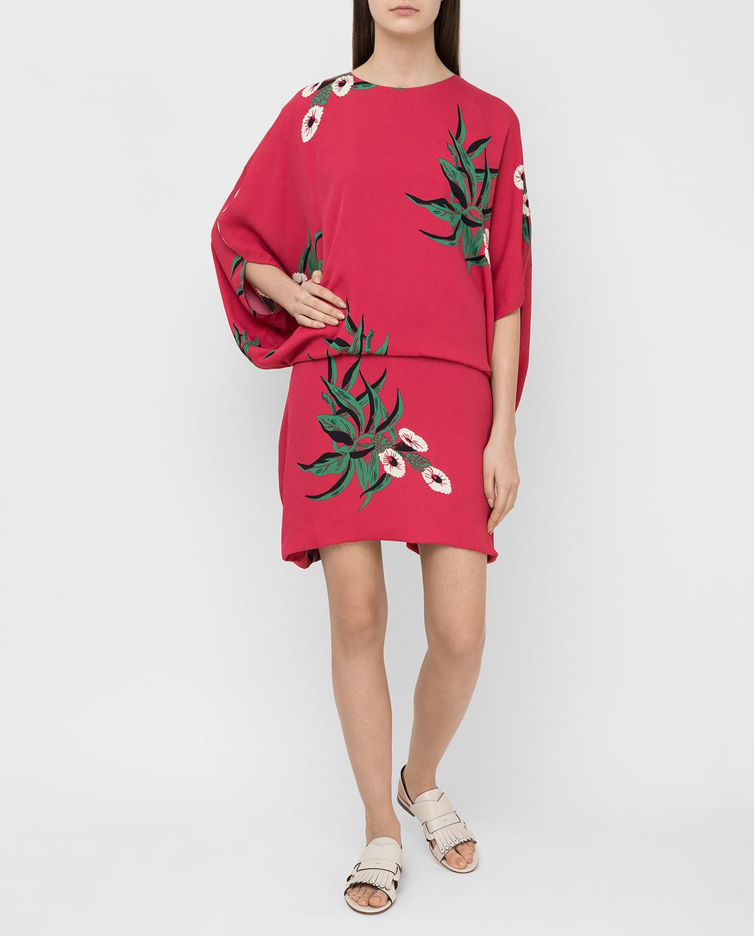 Marni Малиновое платье ABMAR17U00TV392 изображение 2