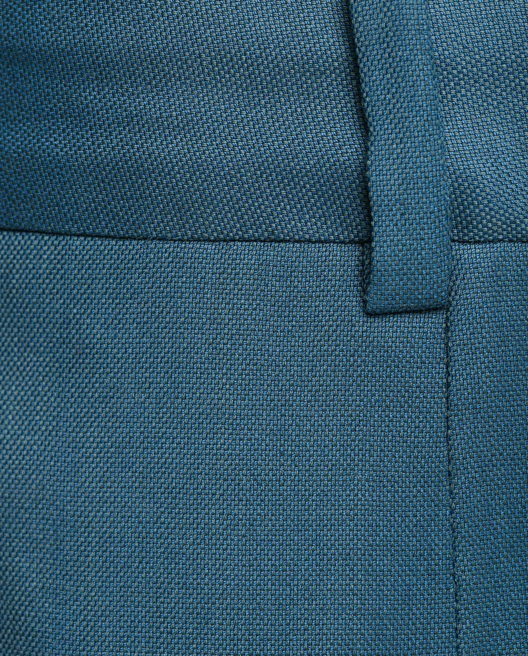 Maison Ullens Светло-синие брюки из шерсти изображение 5