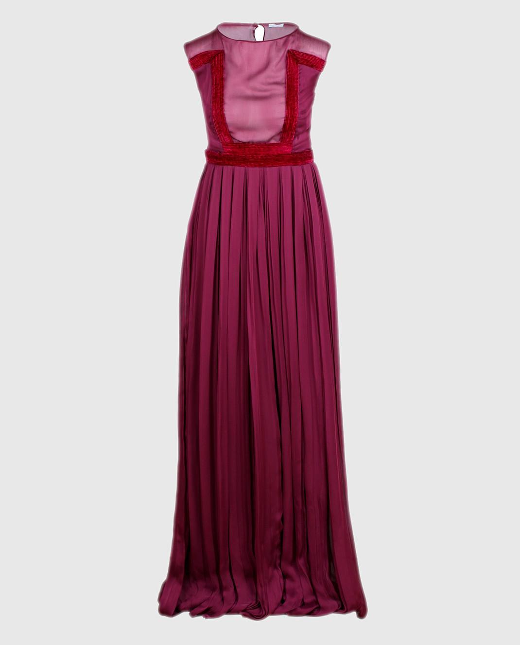 LARUSMIANI Бордовое платье из шелка 077581