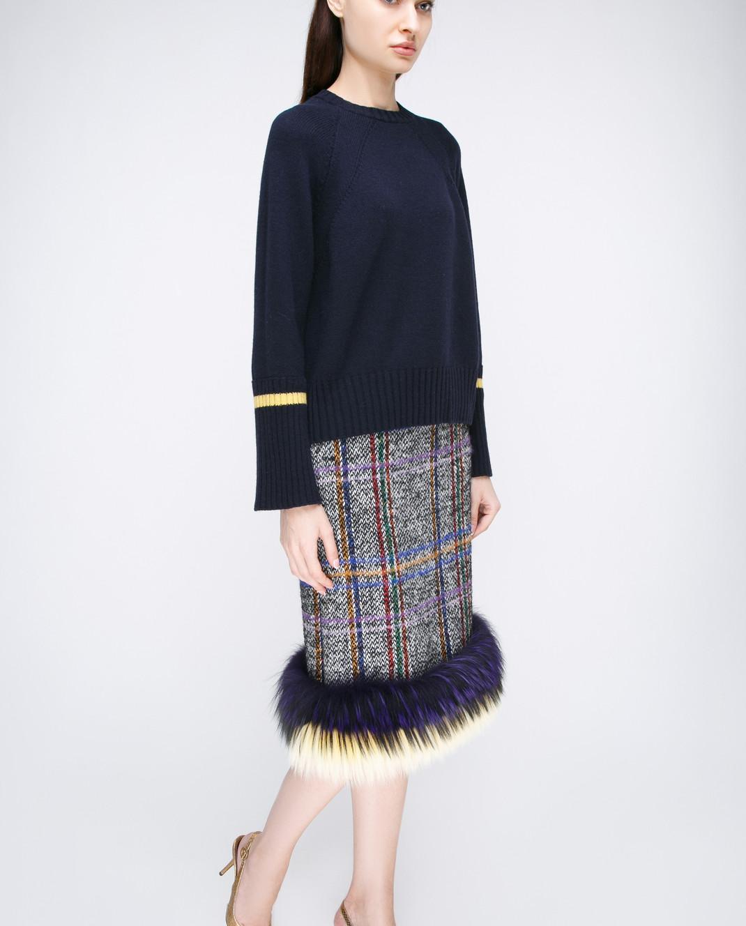 Simonetta Ravizza Серая юбка изображение 2
