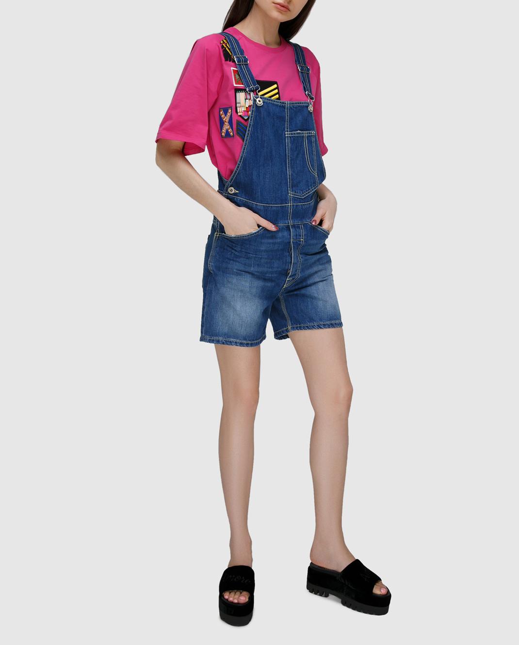 Dondup Синий джинсовый комбинезон DP229 изображение 2