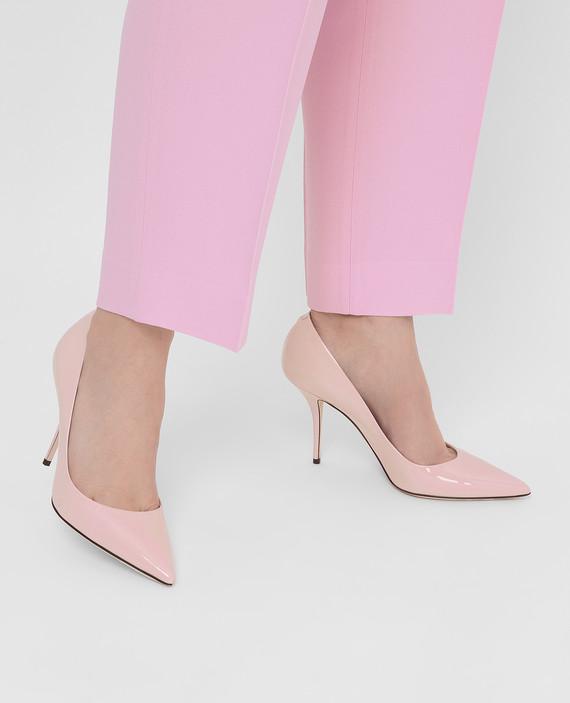 Розовые кожаные лодочки hover