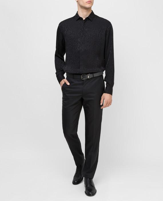 Черная рубашка из шелка hover