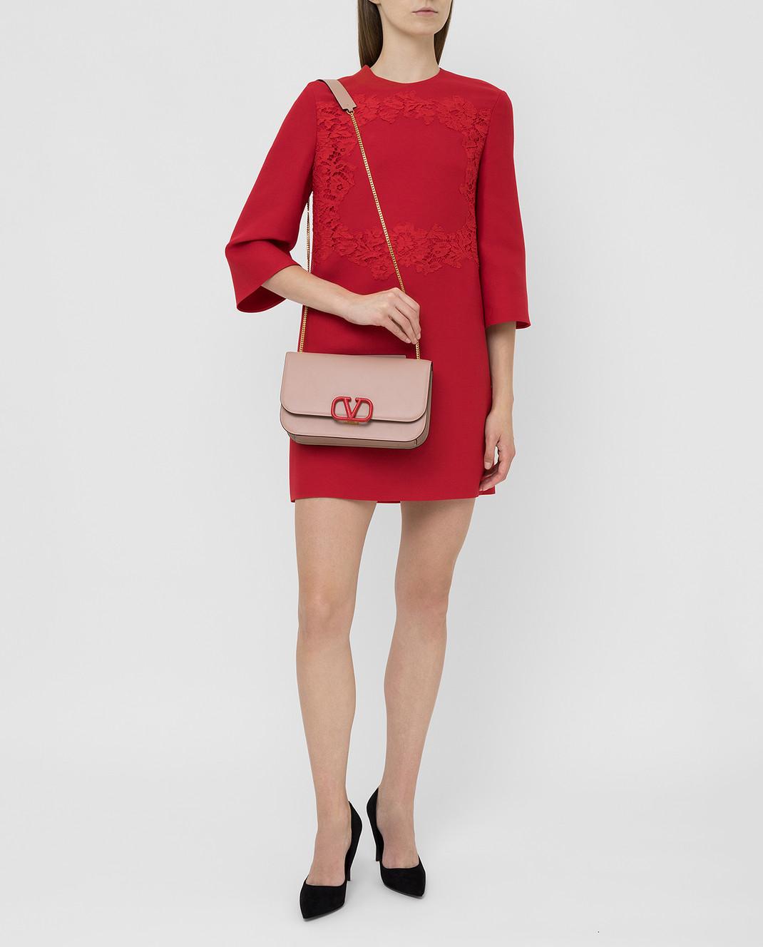 Valentino Красное платье из шерсти и шелка SB0VAPN0360 изображение 2