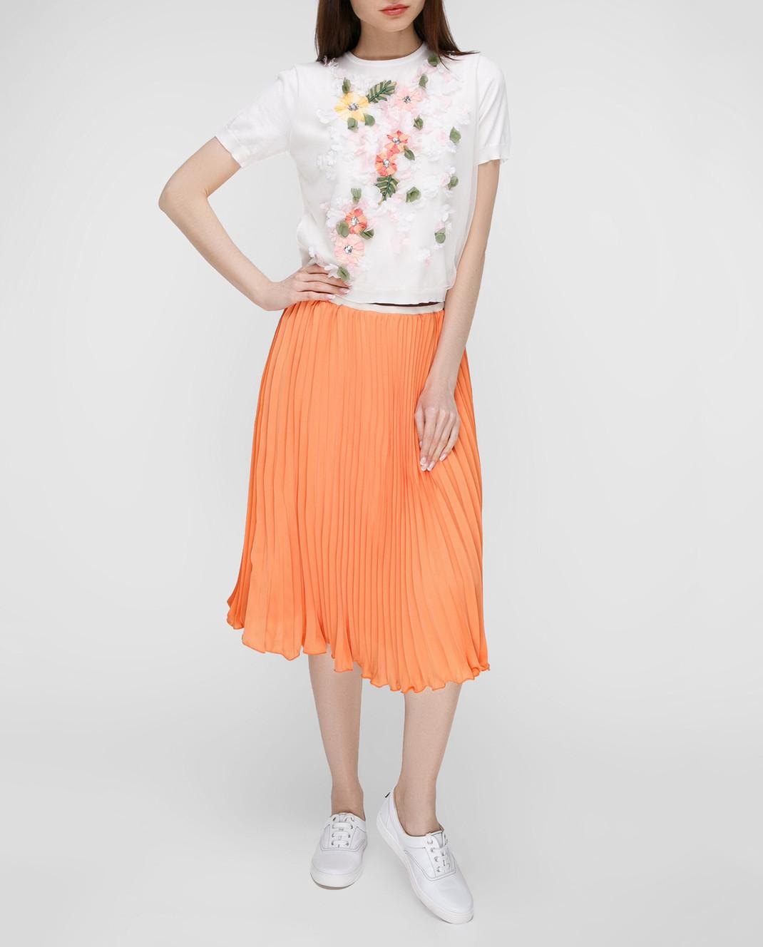 Blugirl Оранжевая юбка-плиссе 3321 изображение 2