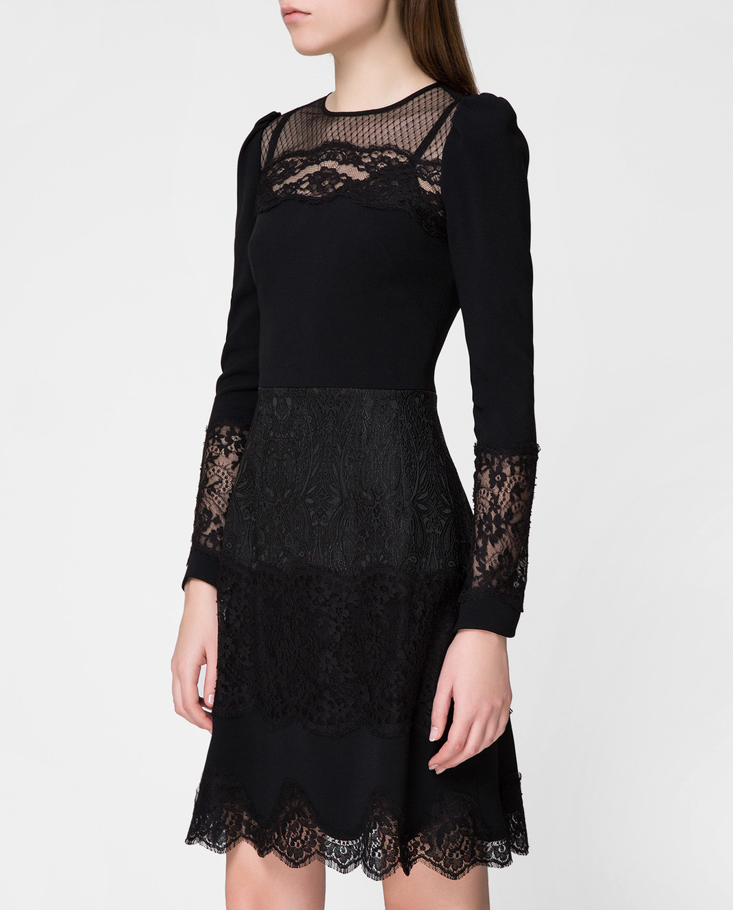 Dolce&Gabbana Черное платье F6C2STFURDV изображение 3