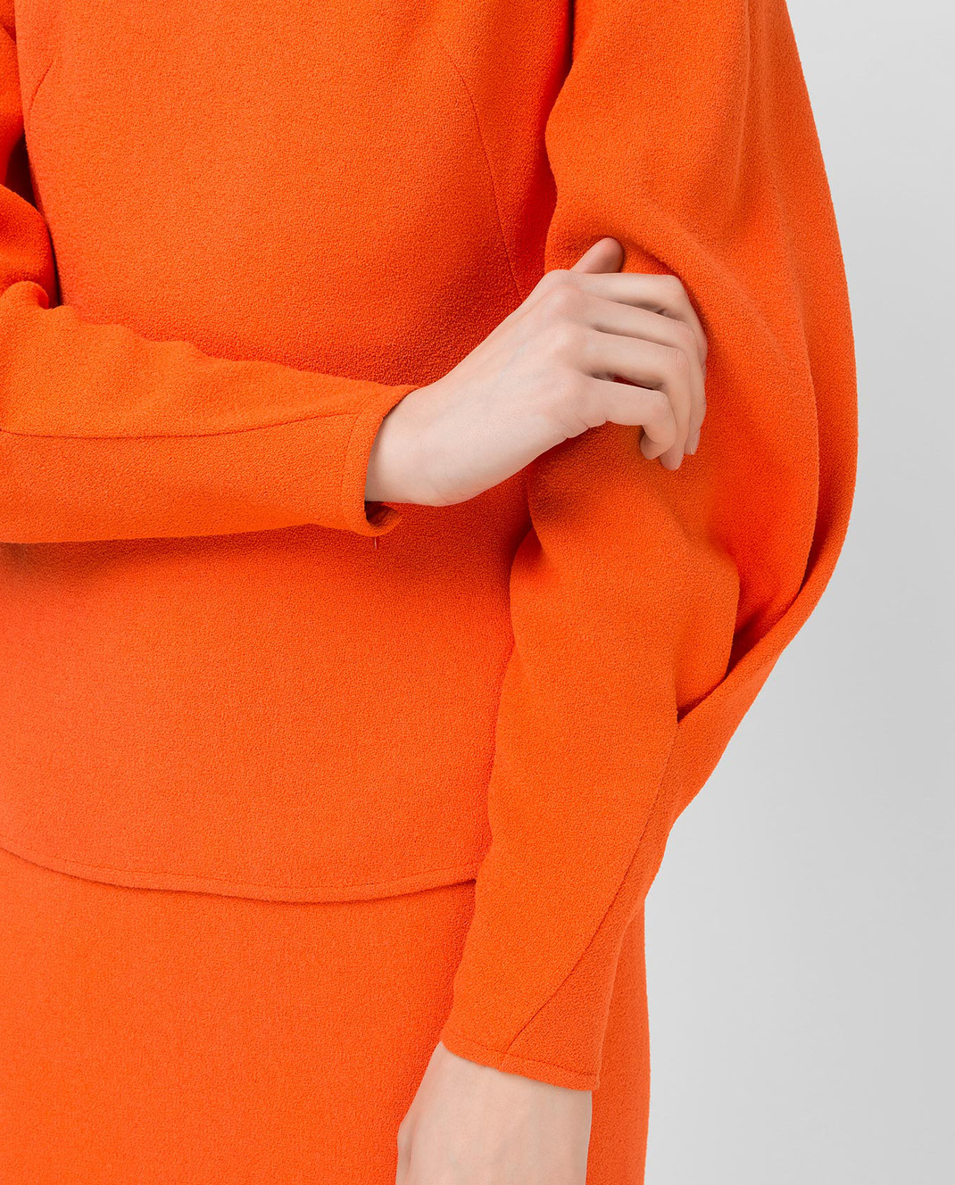 Victoria Beckham Оранжевая блуза TPLNG1339 изображение 5