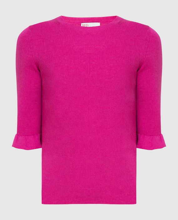 Розовый джемпер из шерсти, шелка и кашемира