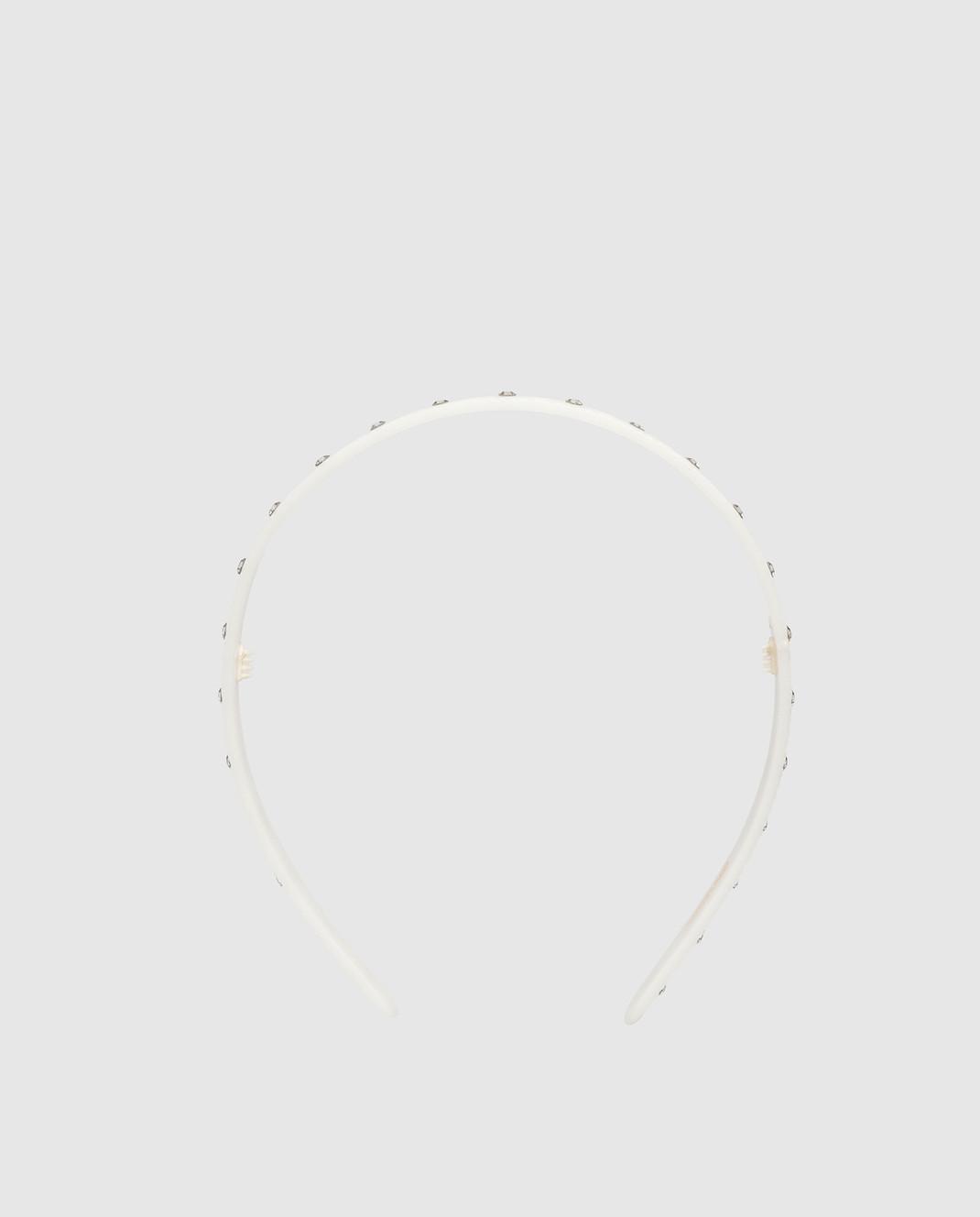 Alexandre De Paris Белый ободок с кристаллами AHB1558002