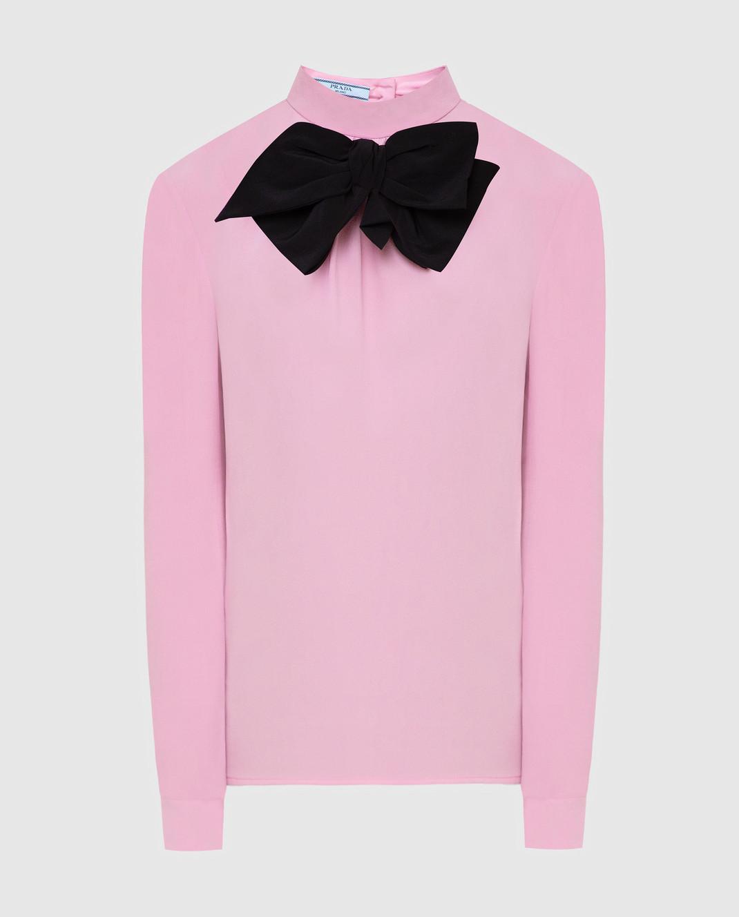 Prada Розовая блуза из шелка P970C