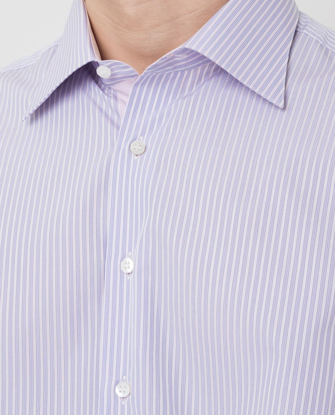 Stefano Ricci Сиреневая рубашка MC000872 изображение 5