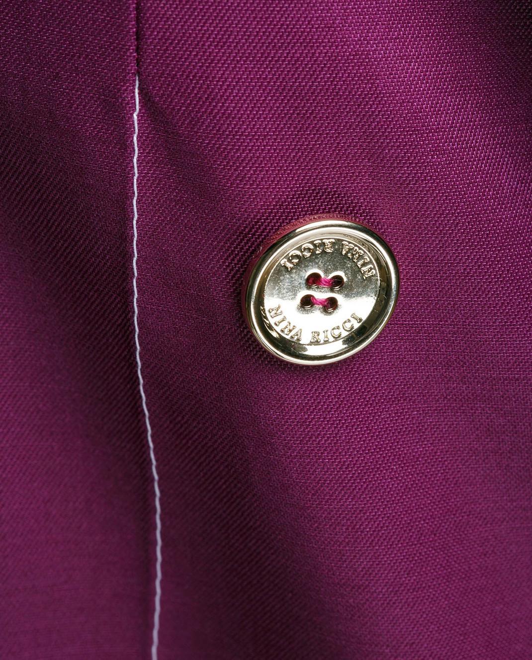 NINA RICCI Фиолетовый жакет из шерсти и шелка 17ECVE017WV0212 изображение 5