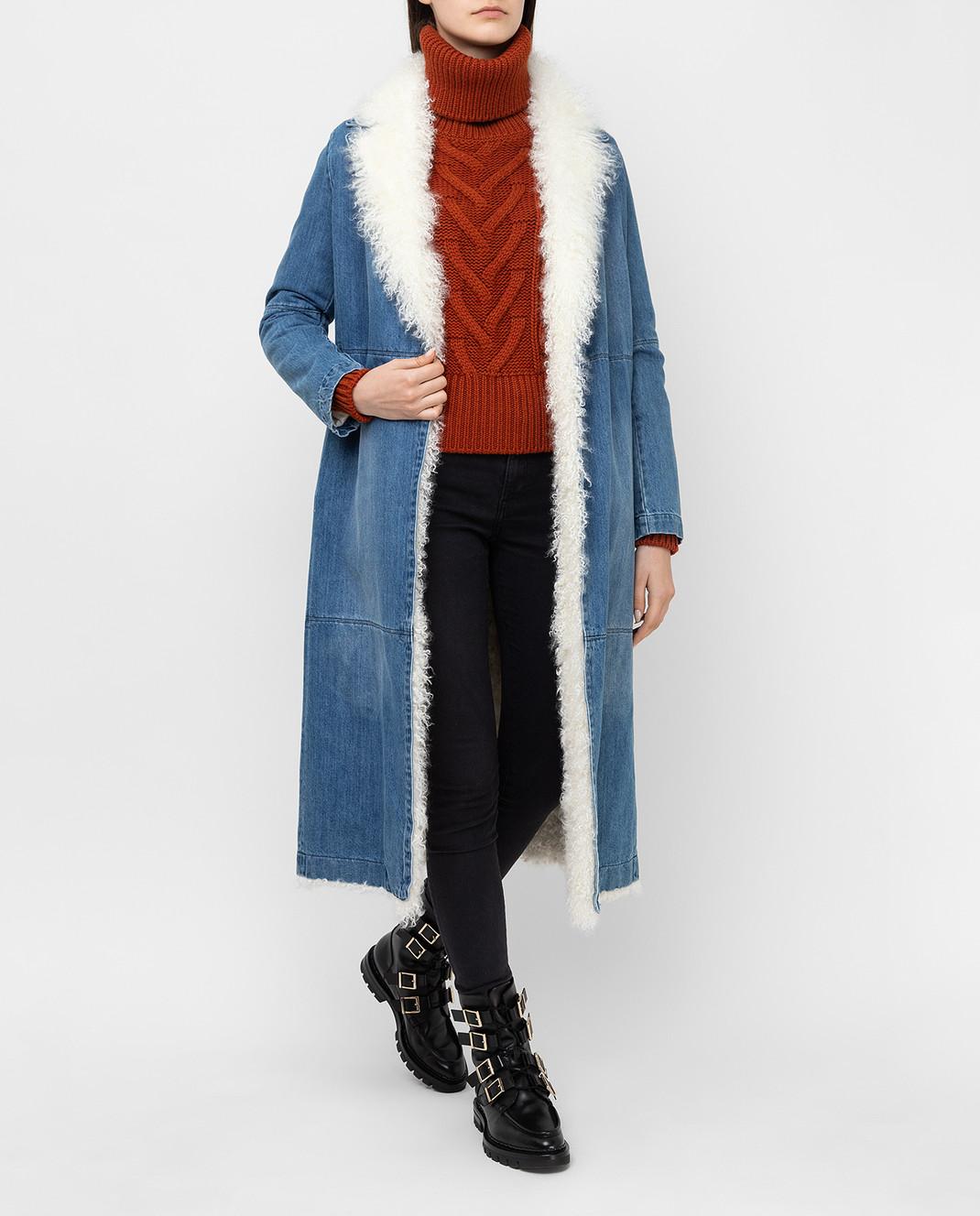 Simonetta Ravizza Синее джинсовое пальто VASIA3 изображение 2