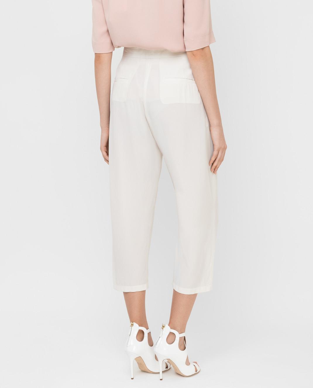 Marni Светло-бежевые брюки из шелка PAMAP01A00TSA29 изображение 4