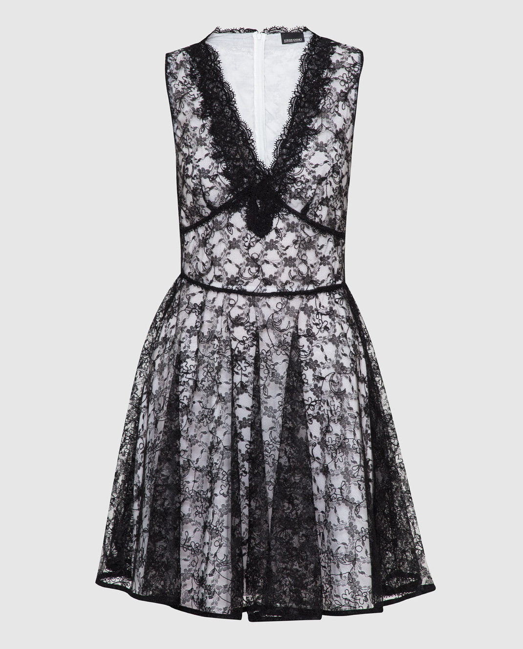 Ermanno Черное платье из кружева AB36