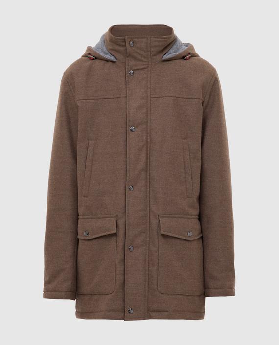 Коричневая куртка из шерсти