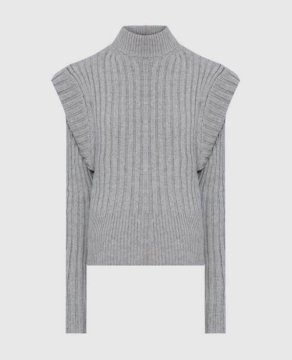 Серый свитер из шерсти