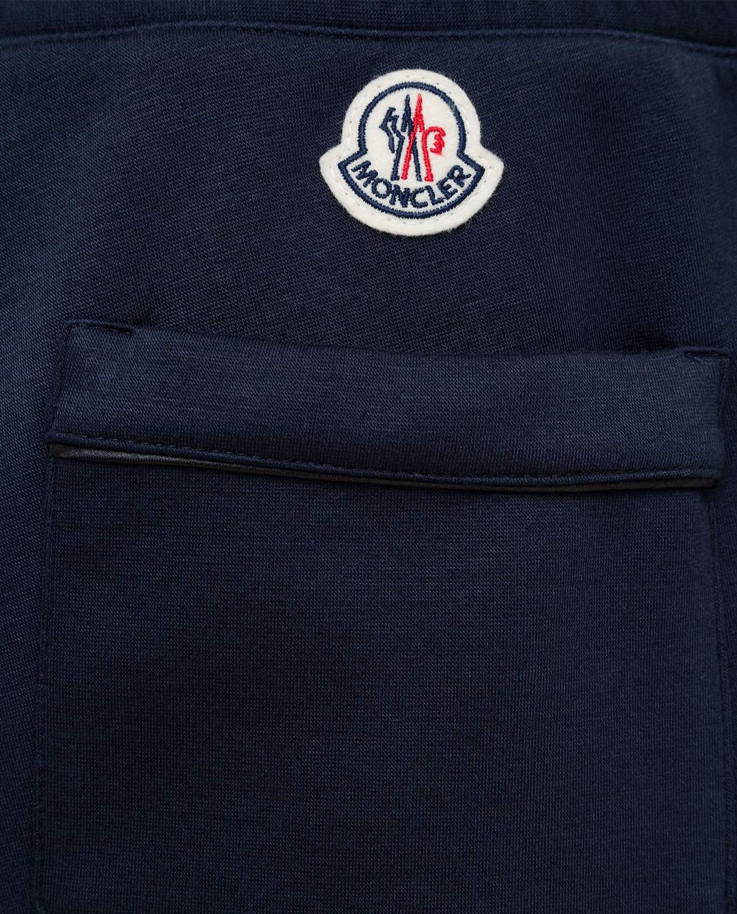 Moncler Темно-синие спортивные брюки 1146600829FC изображение 5