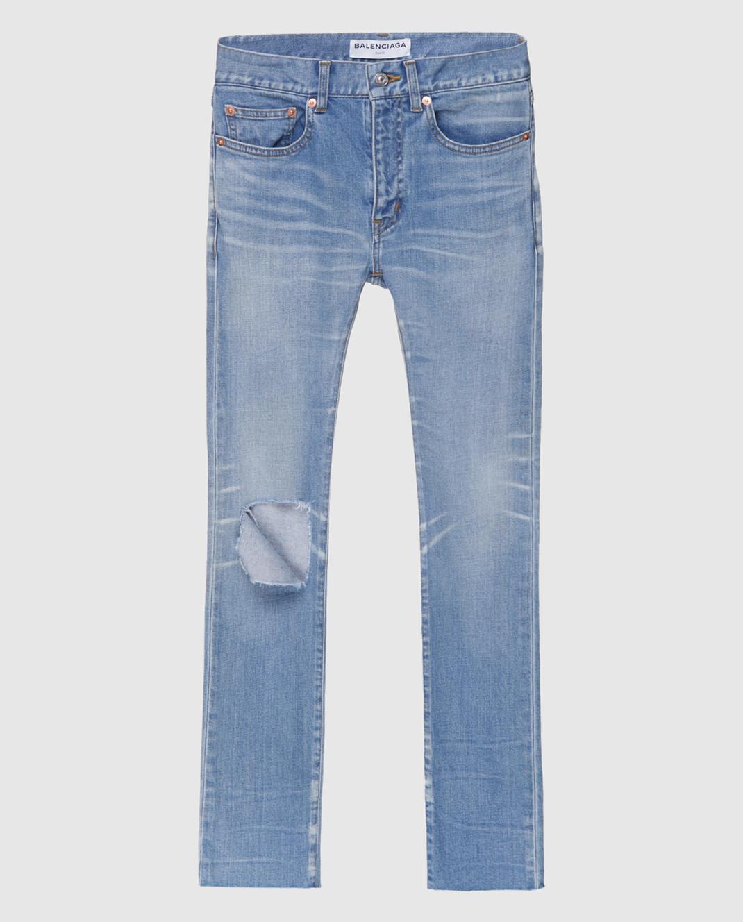 Голубые джинсы Balenciaga 493467TXE09 — Symbol