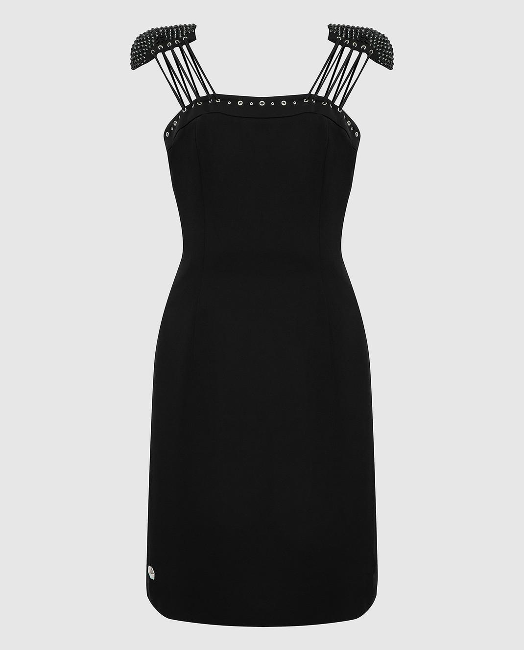Philipp Plein Черное платье с кристаллами CWRG0060