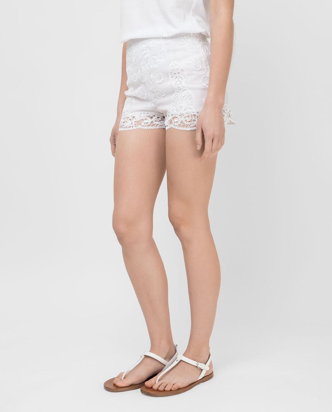 Charo Ruiz Белые шорты 00372 изображение 3