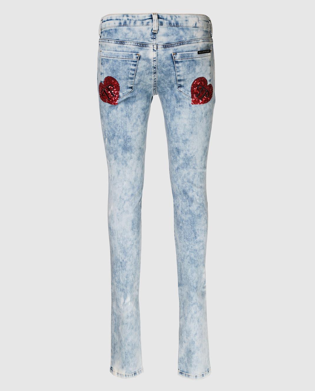 Philipp Plein Голубые джинсы WDT0360 изображение 2