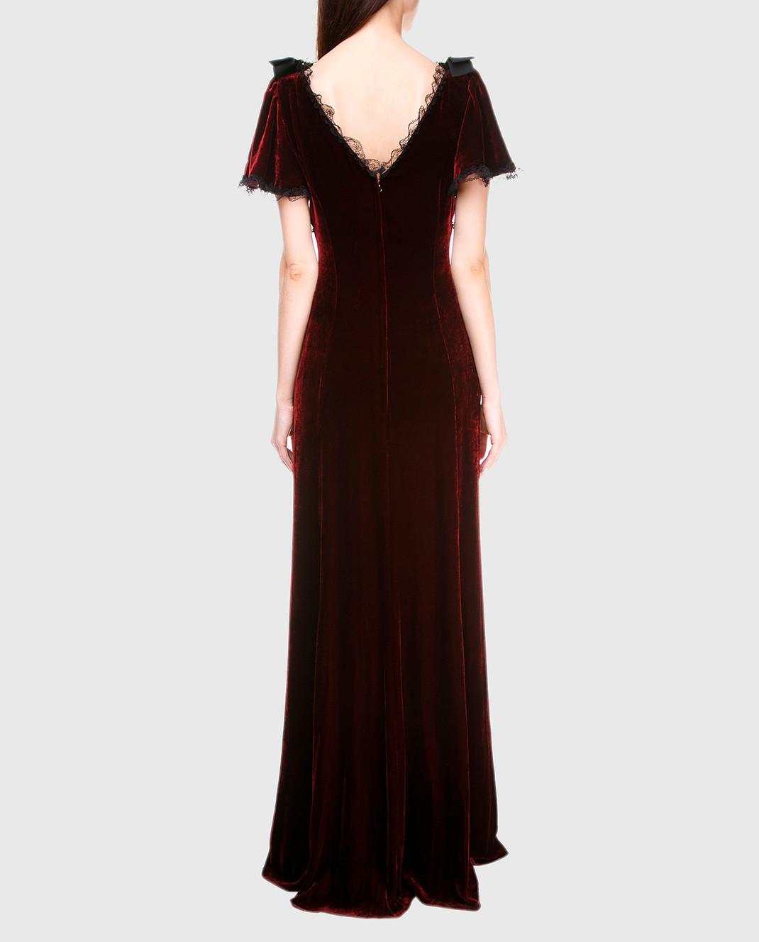 Dolce&Gabbana Бордовое платье F66E1ZFUVH9 изображение 4