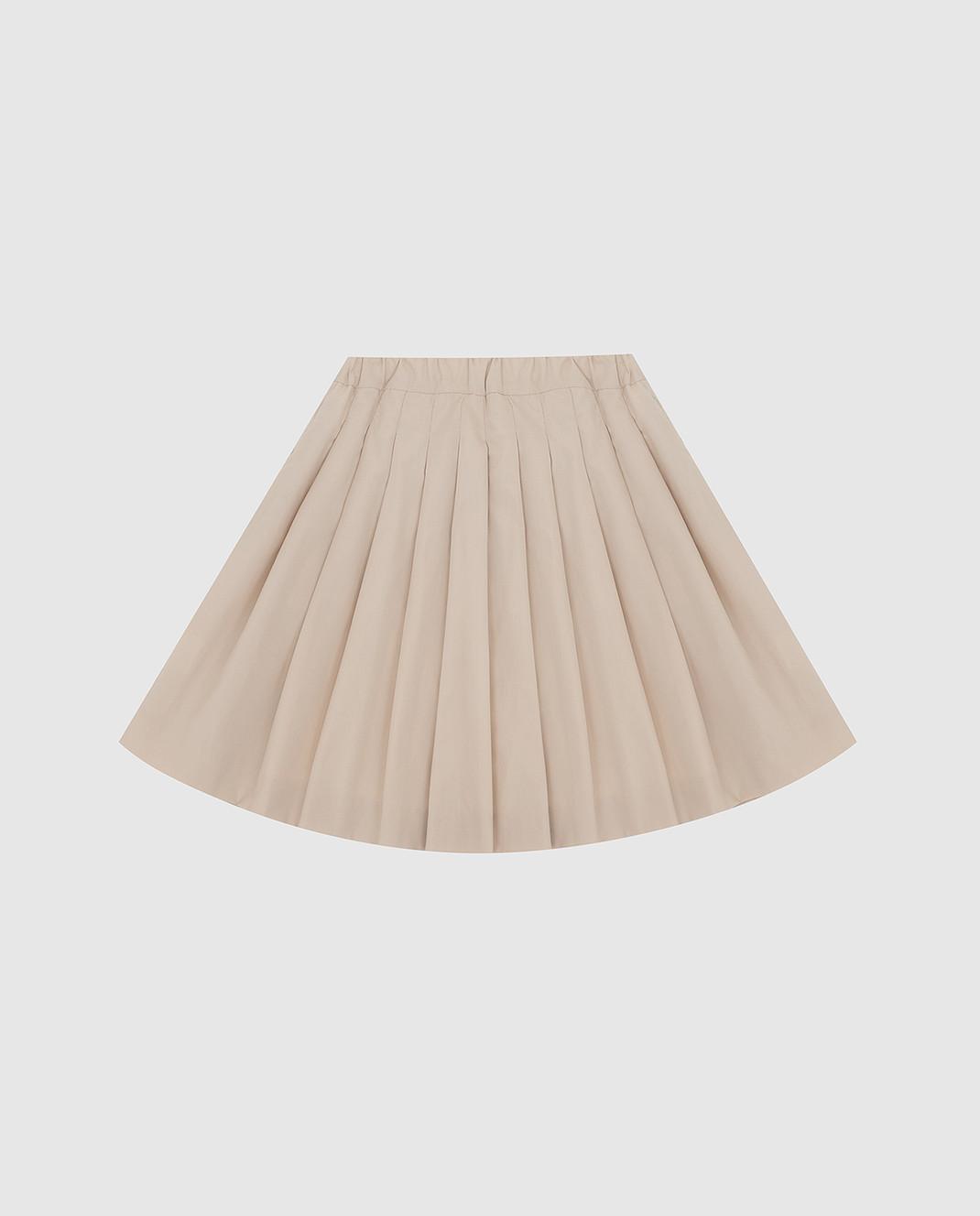 CAF Детская светло-бежевая юбка 101PO58 изображение 2