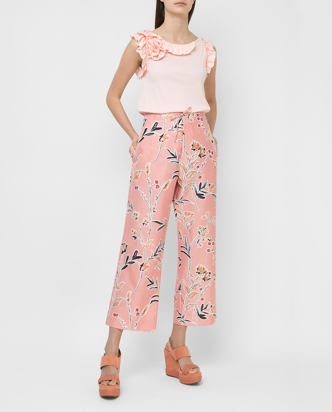Marni Розовые брюки PAMAR02A00TCR58 изображение 2