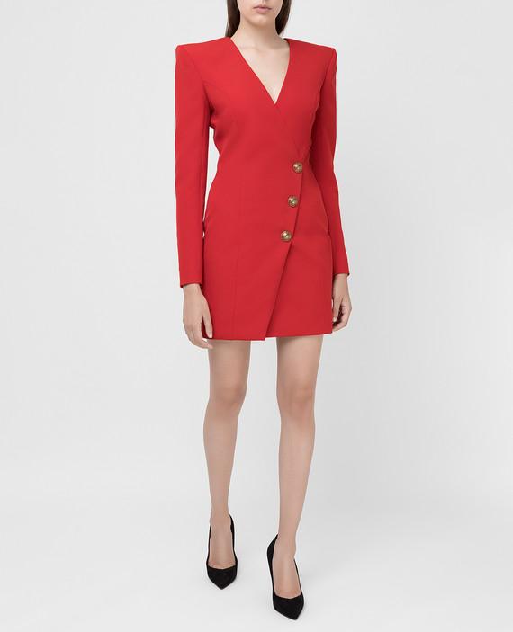 Красное платье из шерсти hover