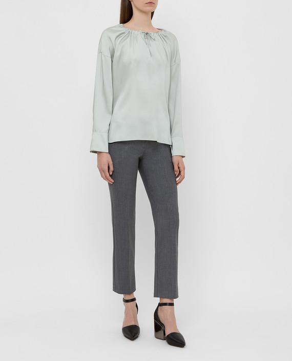 Мятная блуза hover