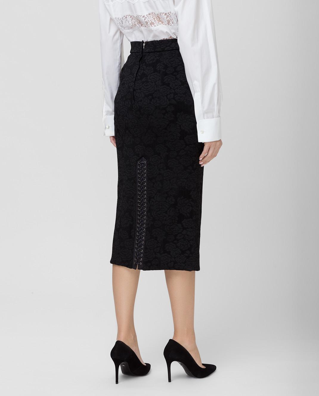 Dolce&Gabbana Черная юбка F4BIGTFJRCP изображение 4