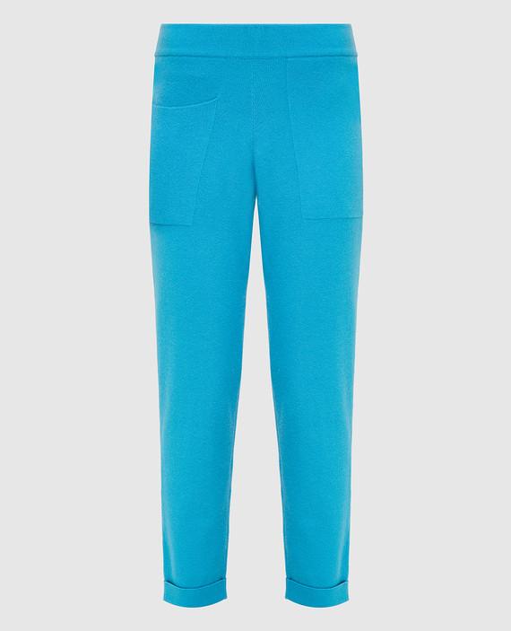 Голубые брюки из кашемира