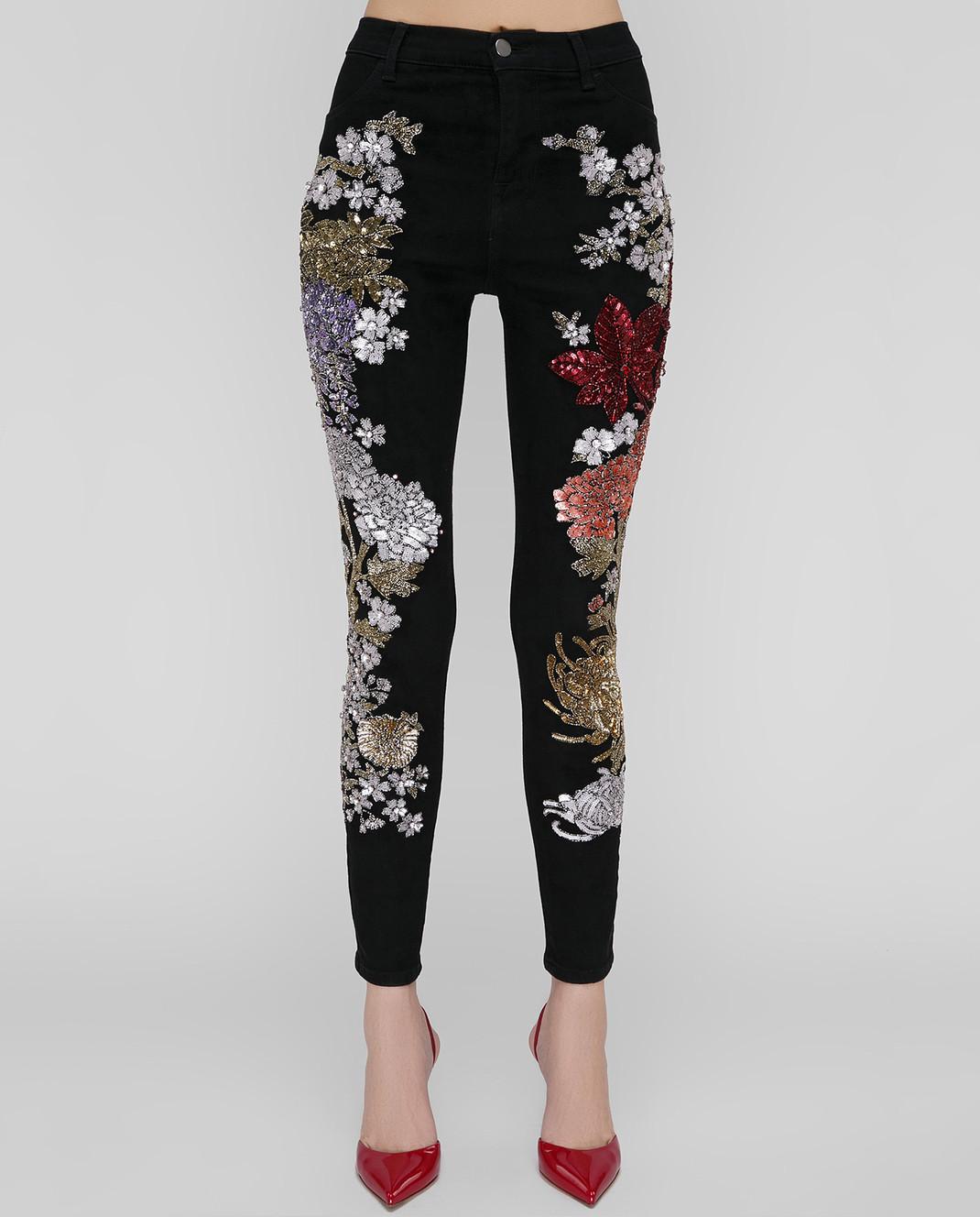 Amen Черные джинсы с пайетками изображение 3