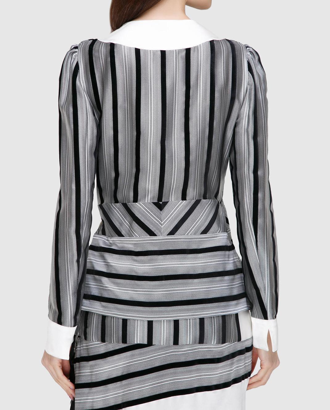Etro Серая блуза из шелка D16097 изображение 4