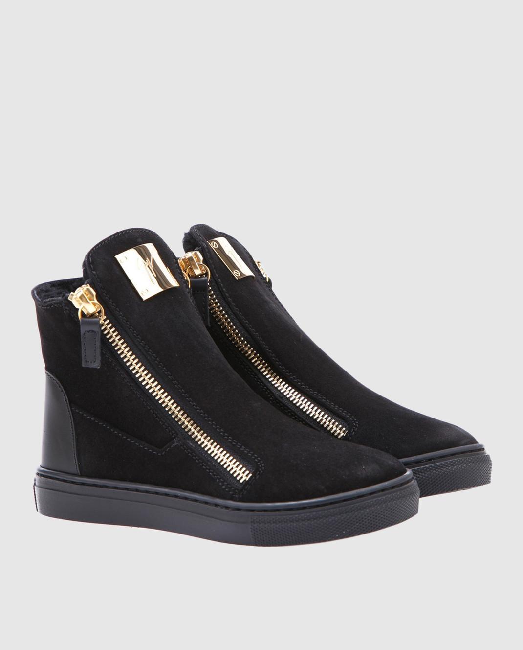 Giuseppe Zanotti Черные замшевые ботинки SBI7402002 изображение 2