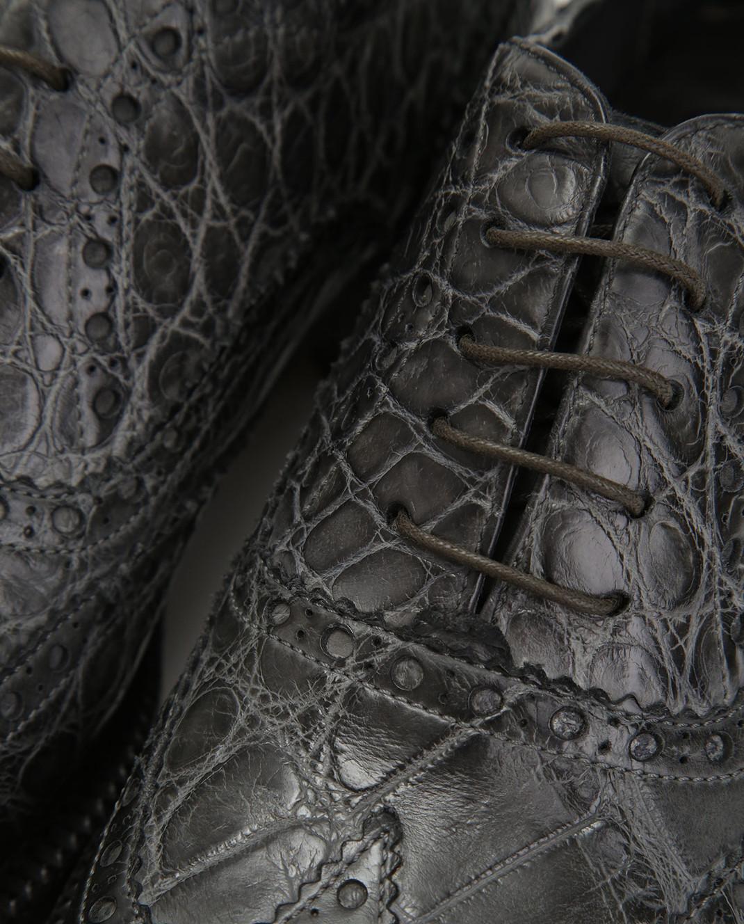 Del Dami Серые оксфорды из кожи аллигатора 3557 изображение 5