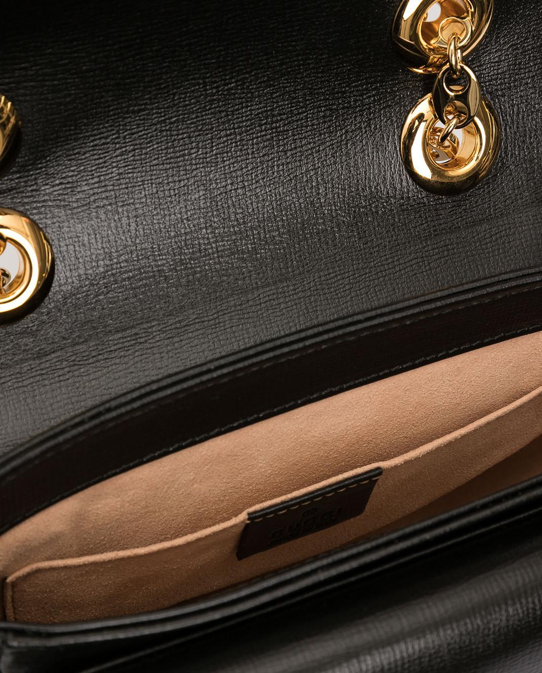 Gucci Черная кожаная сумка изображение 4